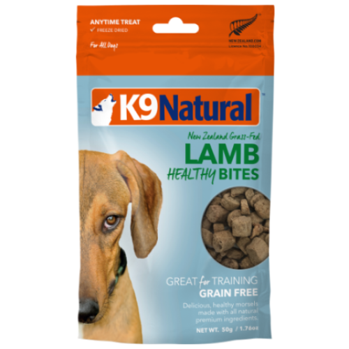K9 Natural, Dog Treats, Freeze Dried, Healthy Bites, Lamb