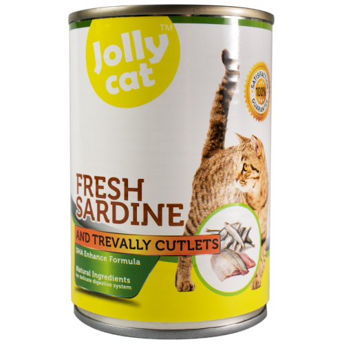 Jolly Cat, Cat Wet Food, Fresh Sardine with Trevally Cutlets (By Carton)