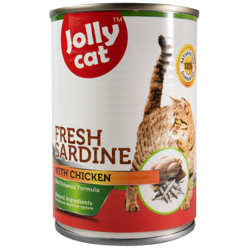 Jolly Cat, Cat Wet Food, Fresh Sardine with Chicken (By Carton)