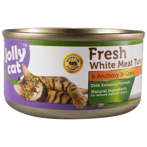 Jolly Cat, Cat Wet Food, Fresh White Meat Tuna & Anchovy (By Carton)