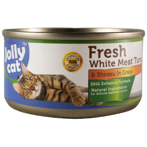 Jolly Cat, Cat Wet Food, Fresh White Meat Tuna & Shirasu (By Carton)