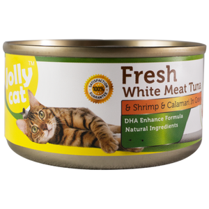 Jolly Cat, Cat Wet Food, Fresh White Meat Tuna & Shrimp & Calamari (By Carton)