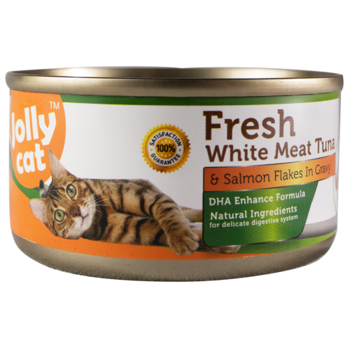 Jolly Cat, Cat Wet Food, Fresh White Meat Tuna & Salmon Flakes (By Carton)
