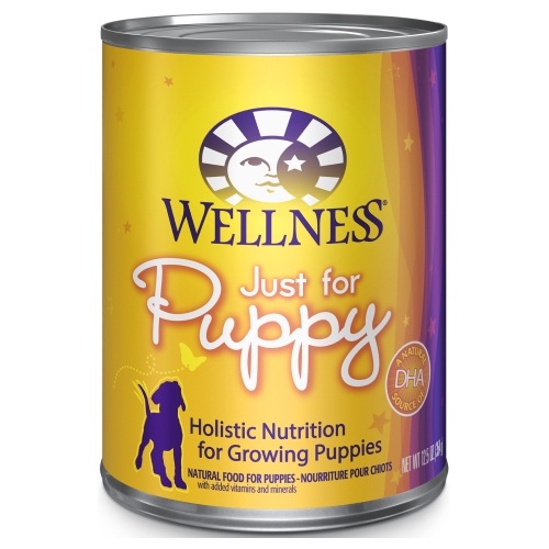 Wellness Complete Health, Dog Wet Food, Pate, Just For Puppy, Salmon & Chicken