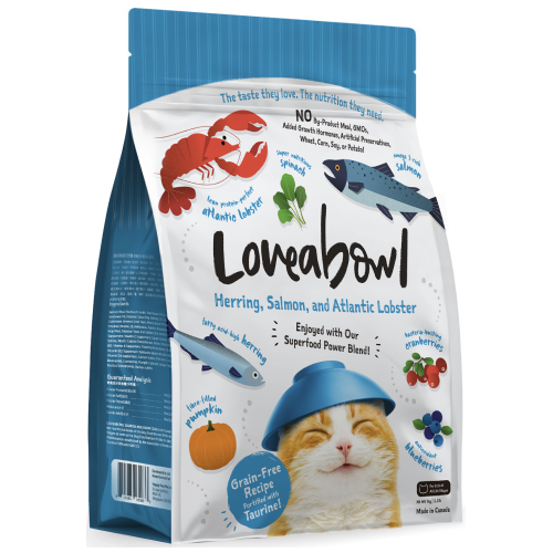 Loveabowl, Cat Dry Food, Herring, Salmon & Atlantic Lobster (3 Sizes)