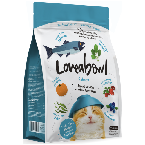 Loveabowl, Cat Dry Food, Salmon (3 Sizes)