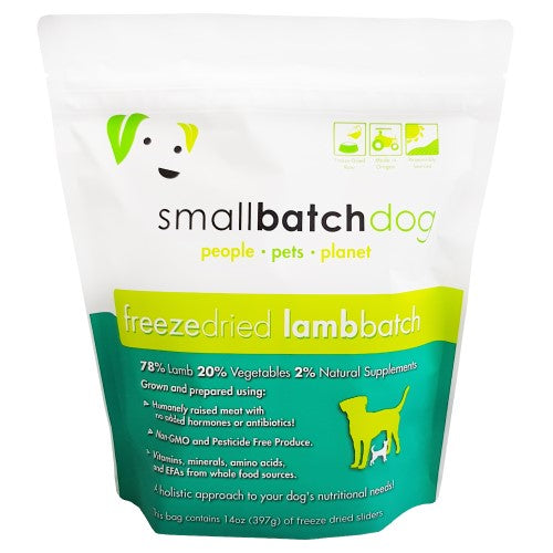 Smallbatch, Dog Food, Freeze Dried, Sliders, Lamb