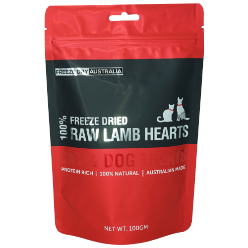 Freeze Dry Australia, Dog & Cat Treats, Freeze Dried, Lamb Hearts