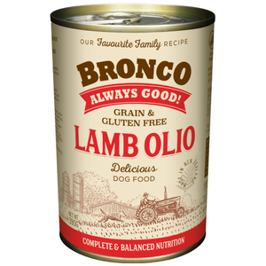Bronco, Dog Wet Food, Grain Free, Olio Lamb