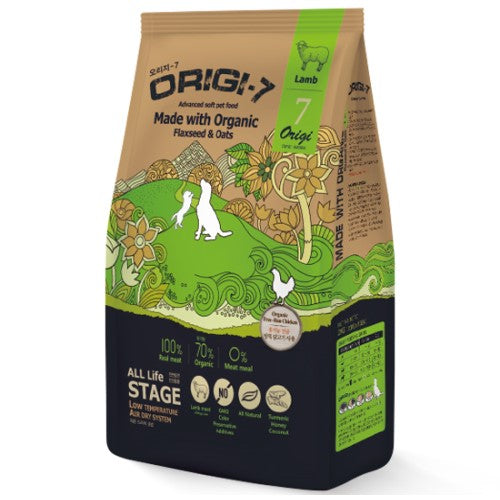 BowWow, Dog Dry Food, Origi-7, Air Dried, Organic, Soft Kibble, Lamb