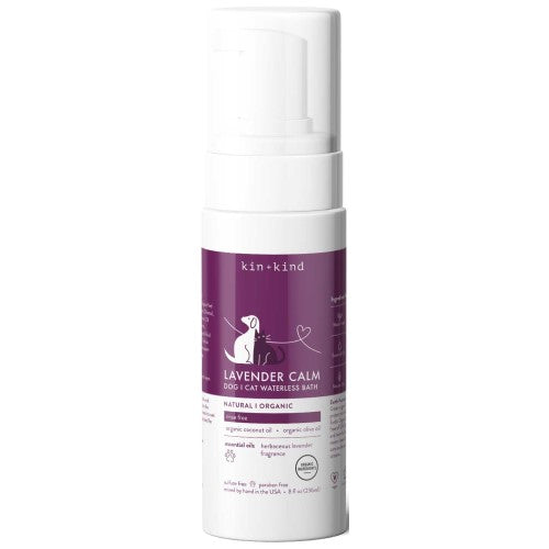 Kin+Kind, Dog & Cat Hygiene, Mists & Waterless Baths, Lavender Calm Waterless Foaming Shampoo