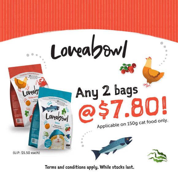 Loveabowl, Cat Dry Food, 2 for $7.80 (4 Types)