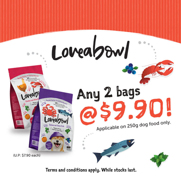 Loveabowl, Dog Dry Food, 2 for $9.90 (3 Types)
