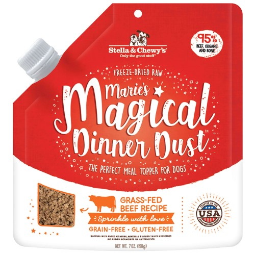 Stella & Chewy's, Dog Food, Meal Mixers, Freeze Dried, Marie's Magical Dinner Dust, Grass-Fed Beef