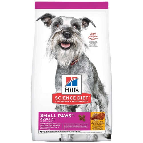 Hill's Science Diet, Dog Dry Food,  Mature Adult, Small Paws, Chicken Meal, Barley & Brown Rice (2 Sizes)