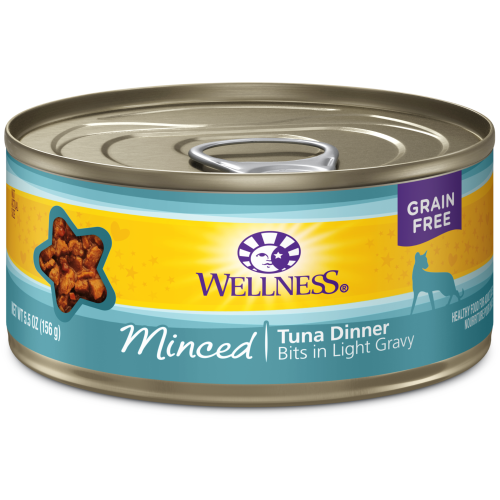 Wellness Complete Health, Cat Wet Food, Grain Free, Minced, Tuna Dinner