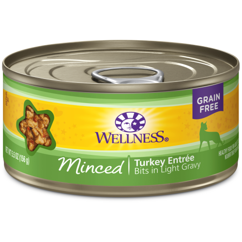 Wellness Complete Health, Cat Wet Food, Grain Free, Minced, Turkey Entree
