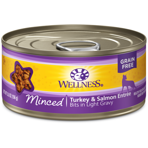 Wellness Complete Health, Cat Wet Food, Grain Free, Minced, Turkey & Salmon Entree