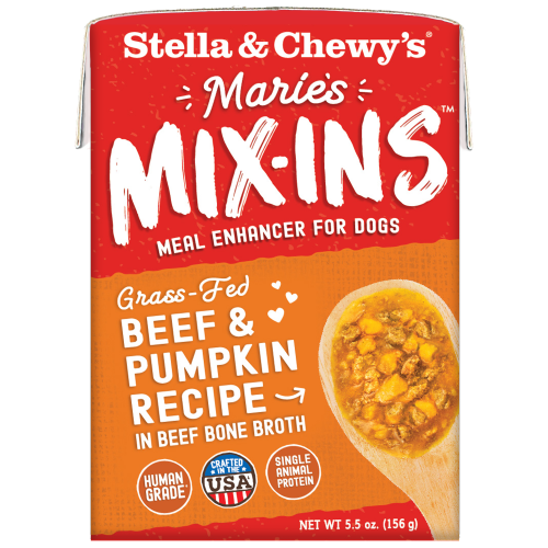 Stella & Chewy's, Dog Wet Food, Grain Free, Marie's Mix-Ins, Grass-Fed Beef & Pumpkin