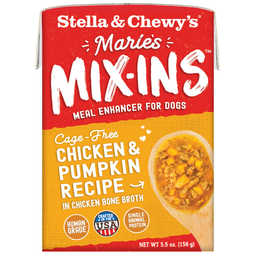 Stella & Chewy's, Dog Wet Food, Grain Free, Marie's Mix-Ins, Cage-Free Chicken & Pumpkin
