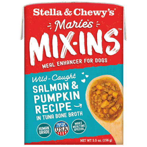 Stella & Chewy's, Dog Wet Food, Grain Free, Marie's Mix-Ins, Wild-Caught Salmon & Pumpkin