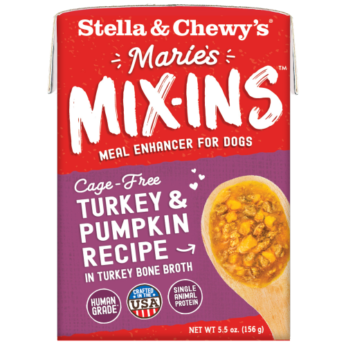 Stella & Chewy's, Dog Wet Food, Grain Free, Marie's Mix-Ins, Cage-Free Turkey & Pumpkin