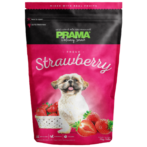 Prama, Dog Treats, Strawberry