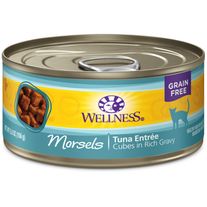 Wellness Complete Health, Cat Wet Food, Grain Free, Morsels, Tuna Entree