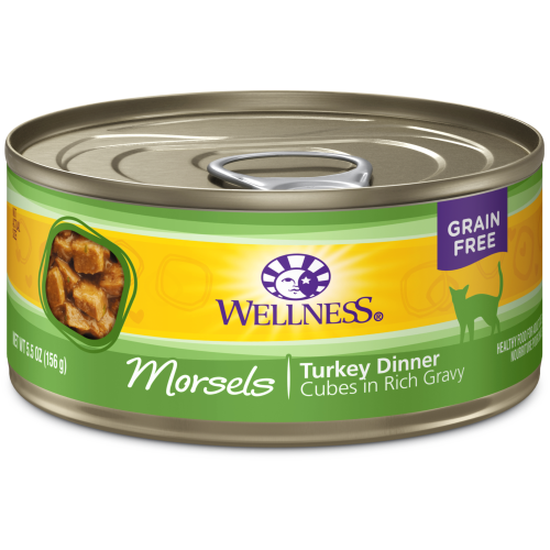 Wellness Complete Health, Cat Wet Food, Grain Free, Morsels, Turkey Dinner