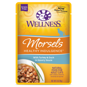 Wellness Complete Health, Cat Wet Food, Grain Free, Healthy Indulgence, Morsels, Turkey & Duck
