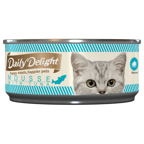 Daily Delight, Cat Wet Food, Mousse, Tuna (By Carton)
