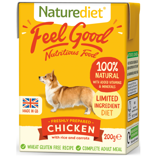 Naturediet, Dog Wet Food, Feel Good, Chicken (2 Sizes)