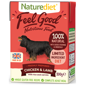 Naturediet, Dog Wet Food, Feel Good, Chicken & Lamb (2 Sizes)