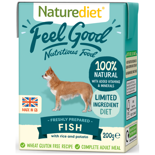 Naturediet, Dog Wet Food, Feel Good, Fish (2 Sizes)