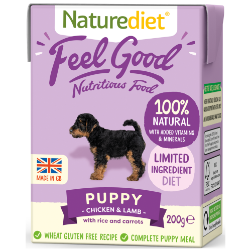 Naturediet, Dog Wet Food, Feel Good, Puppy, Chicken & Lamb (2 Sizes)