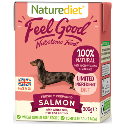 Naturediet, Dog Wet Food, Feel Good, Salmon (2 Sizes)