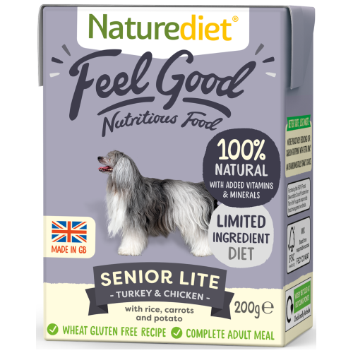Naturediet, Dog Wet Food, Feel Good, Senior Lite, Turkey & Chicken (2 Sizes)