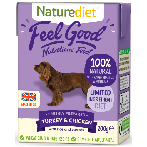 Naturediet, Dog Wet Food, Feel Good, Turkey & Chicken (2 Sizes)