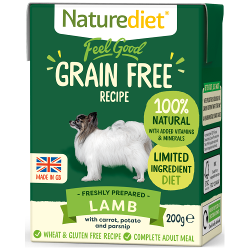 Naturediet, Dog Wet Food, Feel Good, Grain Free, Lamb (2 Sizes)