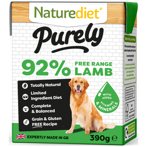 Naturediet, Dog Wet Food, Purely, Grain Free, Lamb