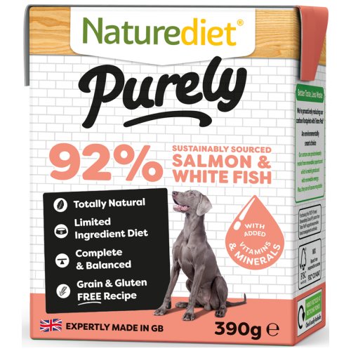 Naturediet, Dog Wet Food, Purely, Grain Free, Salmon & White Fish