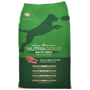 NutraGold, Dog Dry Food, Grain Free, Duck & Sweet Potato