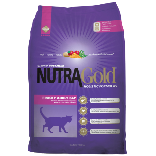 NutraGold, Cat Dry Food, Holistic, Finicky, Adult, Chicken & Chicken Meal