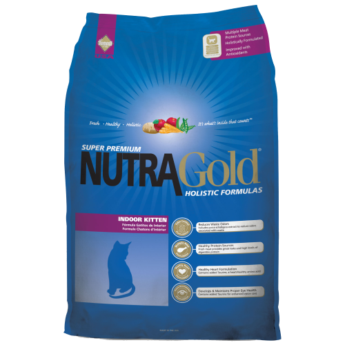 NutraGold, Cat Dry Food, Holistic, Indoor Kitten, Chicken & Chicken Meal