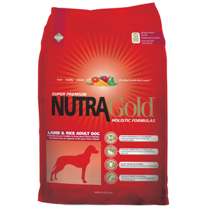 NutraGold, Dog Dry Food, Holistic, Adult, Lamb & Rice