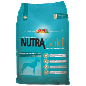 NutraGold, Dog Dry Food, Holistic, Adult, Salmon & Potato