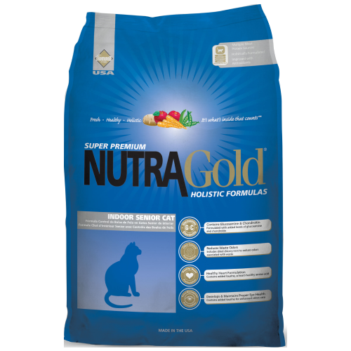 NutraGold, Cat Dry Food, Holistic, Indoor Senior, Chicken & Chicken Meal