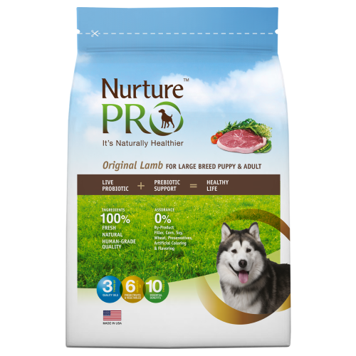 Nurture Pro, Dog Dry Food, Original, Large Breed Puppy & Adult, Lamb (3 Sizes)