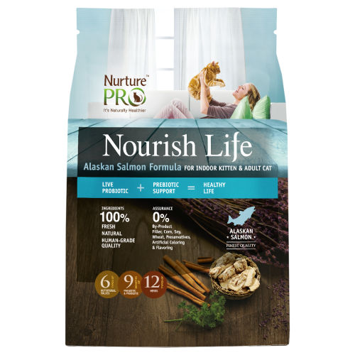 Nurture Pro, Cat Dry Food, Nourish Life, Indoor Kitten & Adult, Alaskan Salmon (3 Sizes)