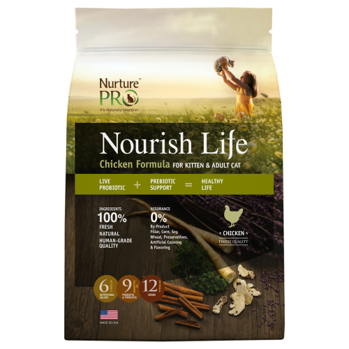 Nurture Pro, Cat Dry Food, Nourish Life, Kitten & Adult, Chicken (3 Sizes)